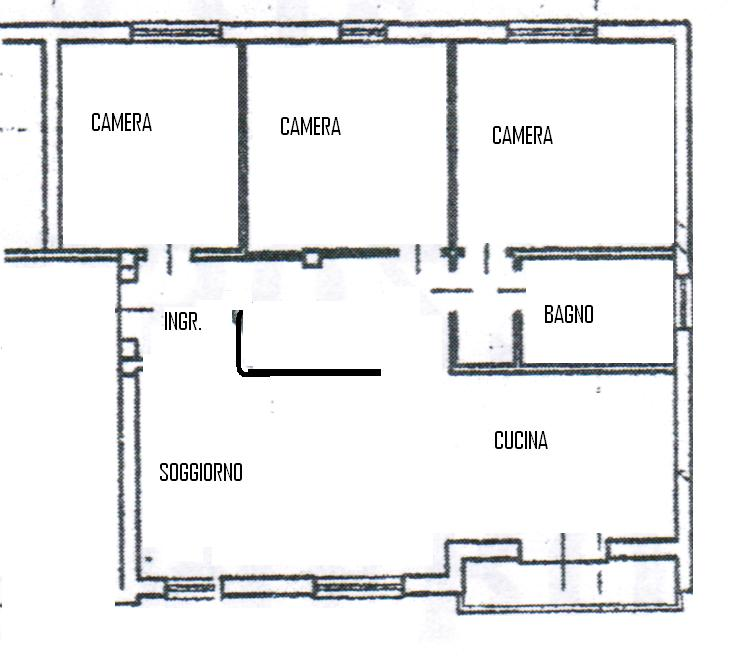 Arcella s antonino nel cuore del quartiere 3 camere con for Floor plans for 160 000